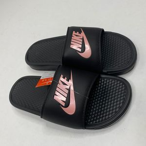 New Nike Benassi slides rose gold 12